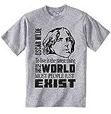 teesquare1st Oscar Wilde Most People Camiseta Gris para Hombre de Algodon Size Medium