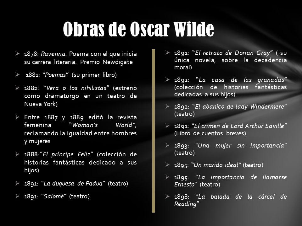 Información de obras-Oscar-Wilde
